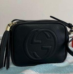 Gucci GG Soho Black Leather Disco Bag